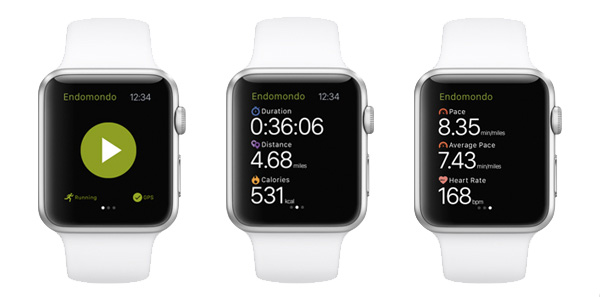 Endomondo voor Apple Watch