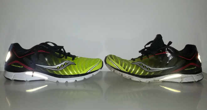 Saucony Kinvara 3 - Old vs. new, na 1000K