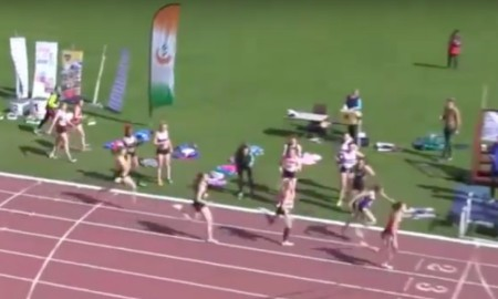 Video: briljante comeback in Ierse 400 m estafettewedstrijd