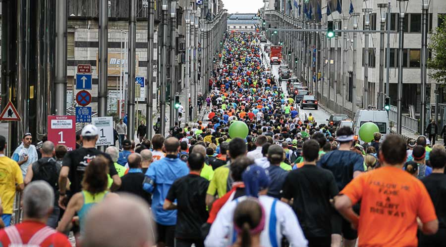 Marathon in Brussels in 2015